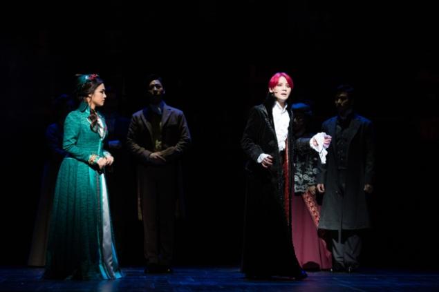 """Kim Junsu interpreta al Conde Drácula en el musical """"Drácula"""", que se estrenó la semana pasada en Seúl Arts Center. (Sociedad Musical OD)"""